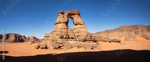 Staande foto Algerije Arches in desert, panorama, Africa