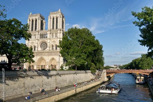 Fotografia  Notre-Dame de Paris et la Seine