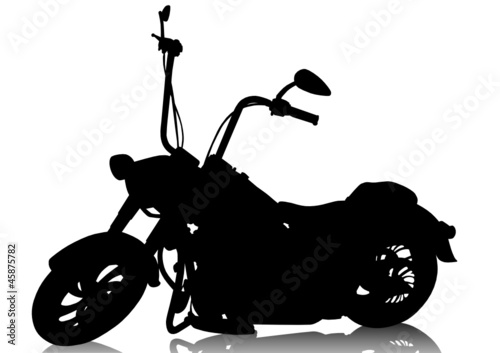 Photo sur Aluminium Motocyclette Chopper motorcycle