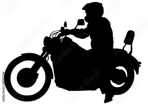 Printed kitchen splashbacks Motorcycle Man on bike