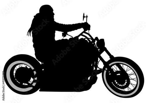 Printed kitchen splashbacks Motorcycle One bikers
