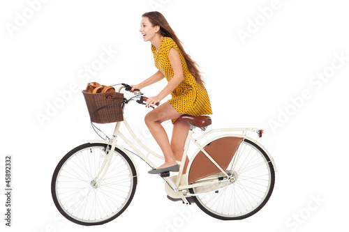 Foto  Woman riding a bike