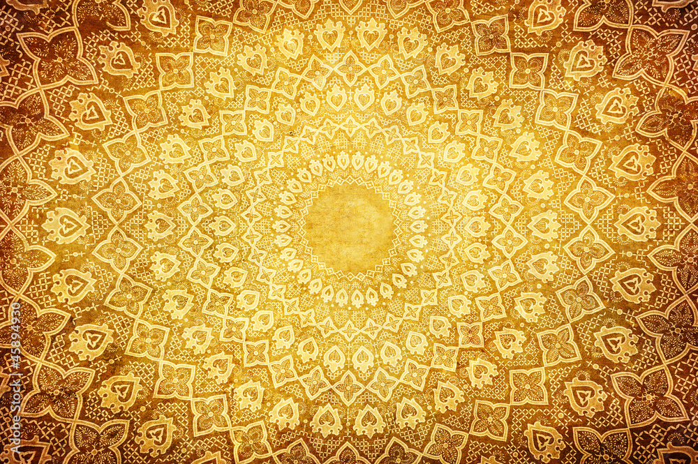 Fototapety, obrazy: grunge background with oriental ornaments .