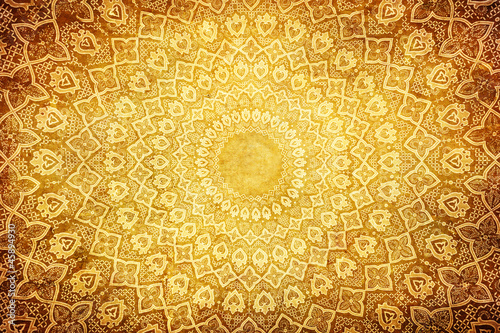 Fotomural grunge background with oriental ornaments .