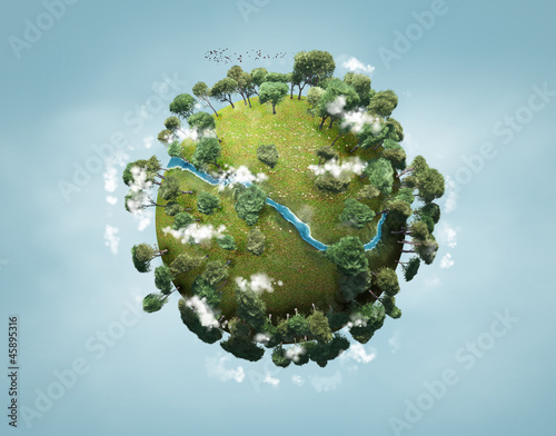 Obraz small green planet - fototapety do salonu