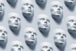 canvas print picture - Anonyme Gesichter - Kunstausstellung