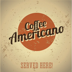 Fototapeta Kawa Vintage metal sign - Coffee Americano
