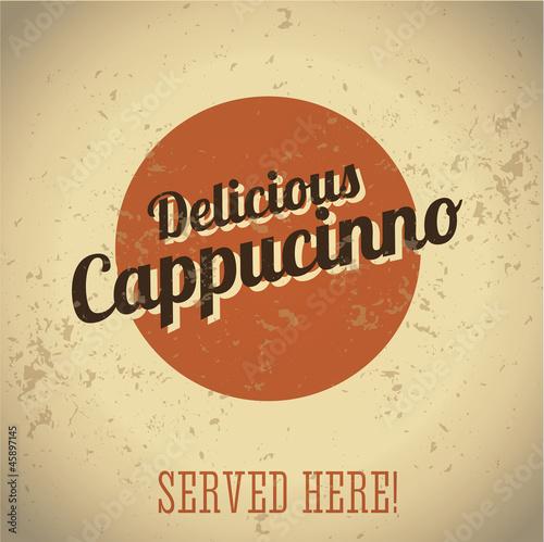 Vintage metal sign - Delicious Cappucinno