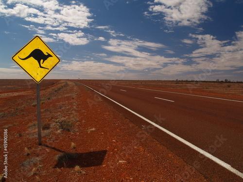 In de dag Australië Outback road
