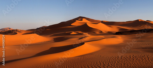 Photo Panorama of sand dunes, Algeria