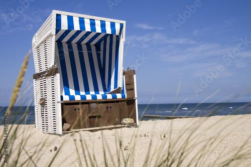 Foto-Rollo - Nordsee Strandkorb (von Alex Hagmann)
