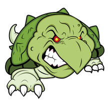 Angry Turtle Mascot