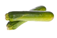 Zucchinis Or Courgettes Isolat...