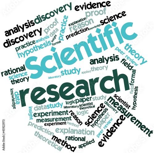 Fotografia  Word cloud for Scientific research