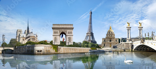 Spoed Foto op Canvas Parijs Panorama Paris France
