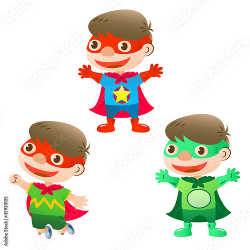 Poster Superheroes cute super hero boy