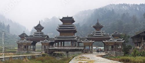 Tuinposter China village gate