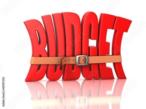 Fotografía  budget deficit - recession 3d concept