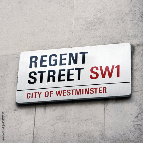 Photo  London Street Sign - Regent Street