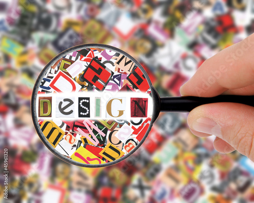 Recess Fitting City building Magnifying glass in hand and word success - business background