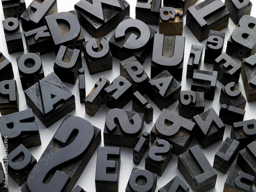 Valokuva  typefaces in composition