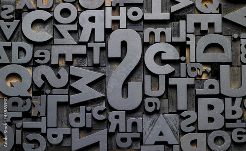 Fotografie, Obraz  typefaces in composition