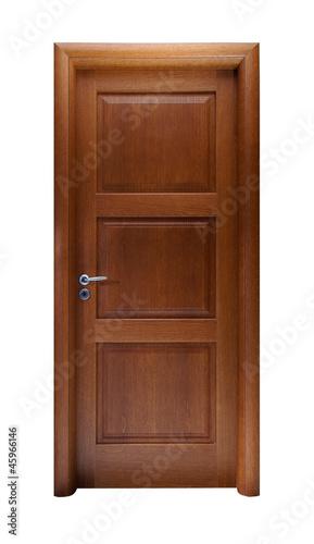 Photo  Door isolated on white