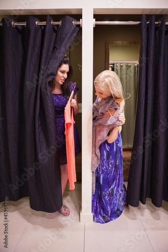 Fotografie, Obraz  Women standing in a changing room