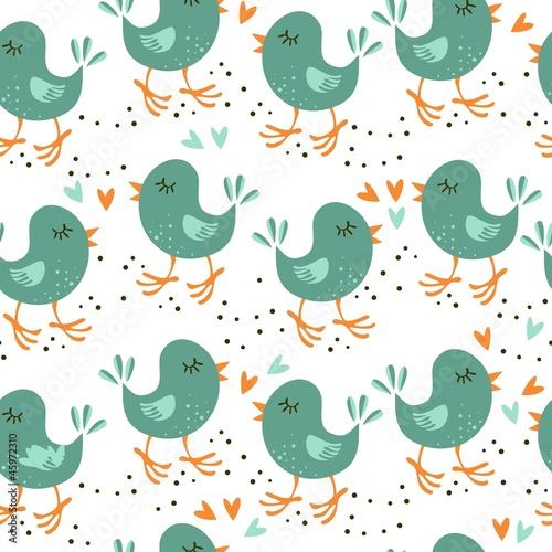 uczucia turkusowych ptaszków na jasnym tle