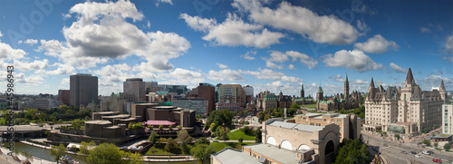 Recess Fitting Canada Panorama view of Ottawa skyline, Canada