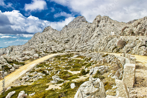 Fotografie, Obraz  Velebit mountain road serpentine near Tulove grede