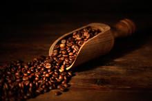 Paletta Con Chicchi Di Caffè