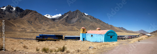 Views from the Andean Explorer train Canvas Print
