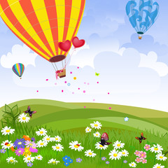 Sretan balon na vrući zrak