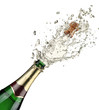 canvas print picture - Close-up of champagne explosion