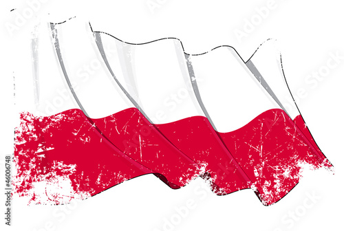 Plakat Polish National Flag Grunge