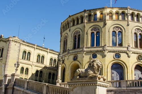 Photo  Norwegian parliament Storting Oslo