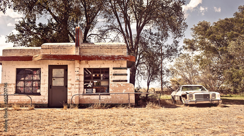 Keuken foto achterwand Route 66 Abandoned restaraunt on route 66 in New Mexico