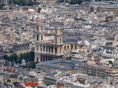 Papiers peints Paris View from Montparnasse tower to the Paris city