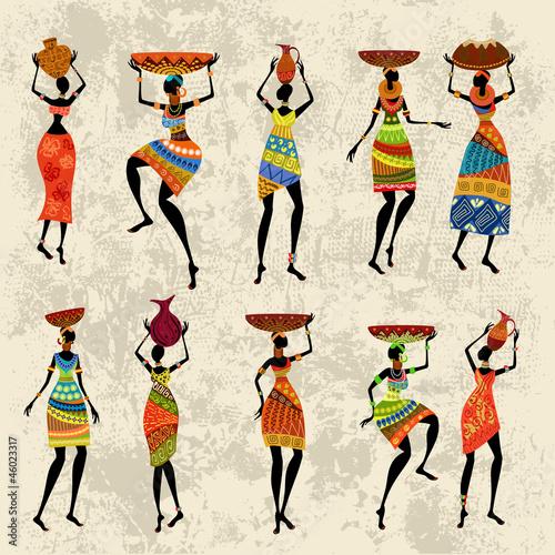 afrykanska-kobieta-na-grunge-tle