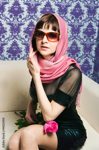 Foto op Aluminium Art Studio The fashionable girl