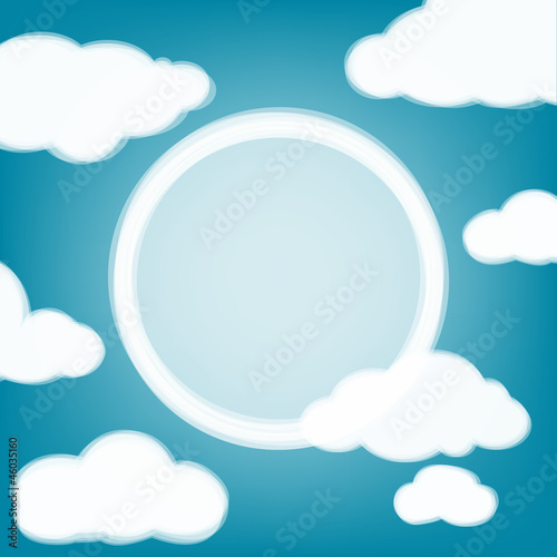 Poster Ciel Sky background with transparent clouds and place for the text.