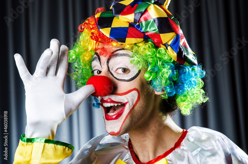 Funny clown in the studio shooting Fototapete