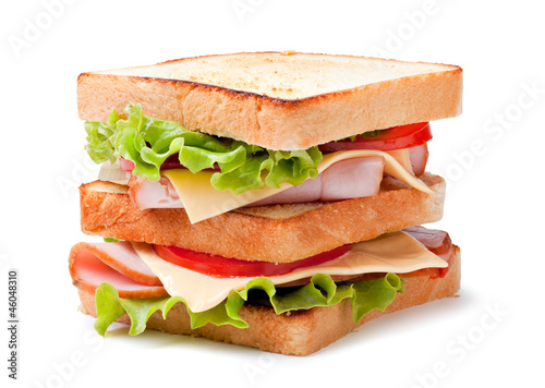 Staande foto Snack sandwich