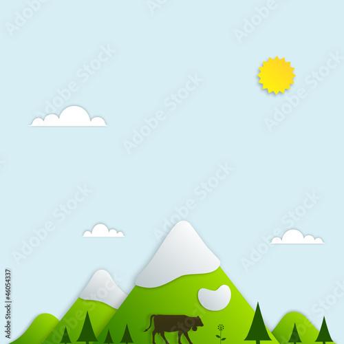 Photo sur Toile Bleu clair mountain landscape 1
