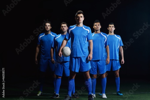Canvas Print soccer players team