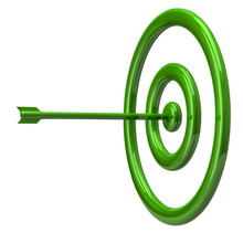 Illustration Of Green Target And Arrow