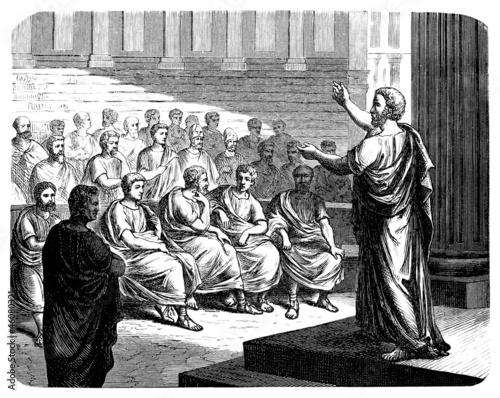Antique Greek Orator Canvas Print