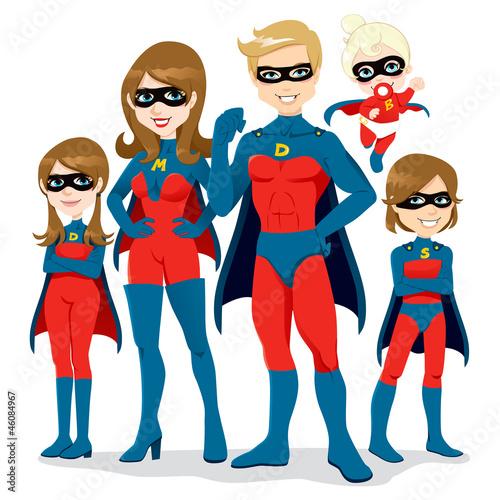 Poster Superheroes Superhero Family Costume