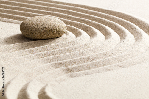 Printed kitchen splashbacks Stones in Sand zen reflection